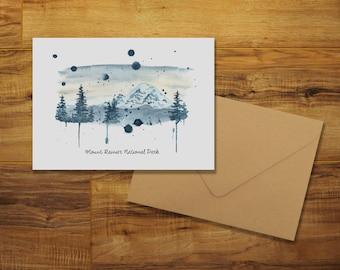 Mount Rainier National Park Greeting Card