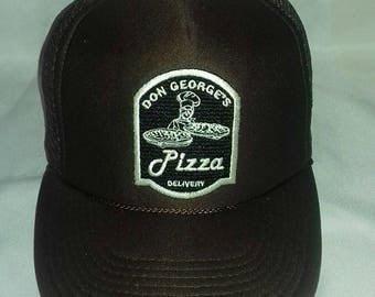 Rare vintage trucker cap Don Georges Pizza Delivery plastic snap one size fits most
