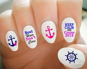 Nail tattoos etsy nail decals cruise nail decals water transfer nail decalsnail tattoo fashionable prinsesfo Image collections