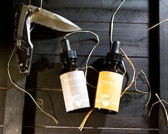 Dual Collection - Bare Naked & Crèma Naranja Beard Oil 1oz each - Beard Moisturizer, Beard Conditioner, Beard Care
