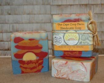Sunrise Over the Atlantic handmade soap, natural soap, cold process soap, citrus soap