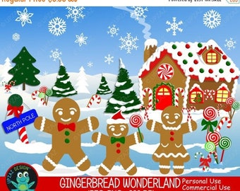 75% OFF SALE Gingerbread Clipart, Commercial Use, Gingerbread House, Digital Clipart, Digital Images - UZ631