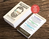 Rodan and Fields / Business Cards / Custom / Beyond The Shave / Mens skincare / Smarter Shave / Instructions / Digital / DIY / Printable