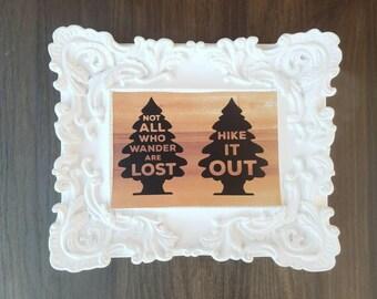 Hike It Out Sticker | Wilderness Sticker | Pacific Northwest | Wanderlust | Tree Sticker | Outdoors