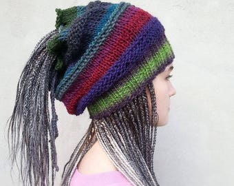 Dreadlocks Hats, Dreadlocks Wrap, Dreads Hats,  Rasta Hats, Handmade Dreadlock Neckwarm, Loose Knit , Gift for Her,  OOAK,  Ready to ship