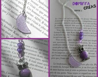 "Bookmark ""OWL"" and moon jewelry glitter"