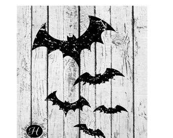 Bats distressed Halloween  SVG Cut file  Cricut explore file t-shirt decal wood signs scrapbook vinyl decal wood sign t shirt cricut cameo