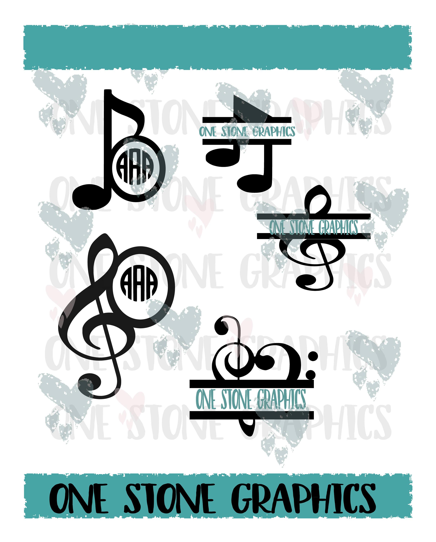 Music Note Monogram Svgmonogram Svgmusic Svgmusic Cut