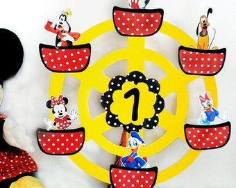 Mickey Mouse Centerpiece polka dot birthday mickey mouse party decor Disney Inspired, Mickey Friends, Mickey Mouse Clubhouse centerpiece boy