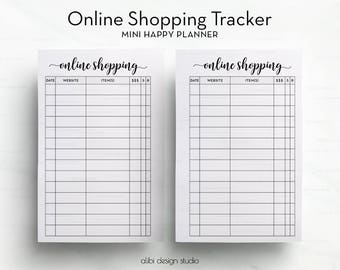Online Shopping, MINI Happy Planner, Shopping Tracker, MINI MAMBI, Printable Planner, Online Purchases, To Do List, Online Orders
