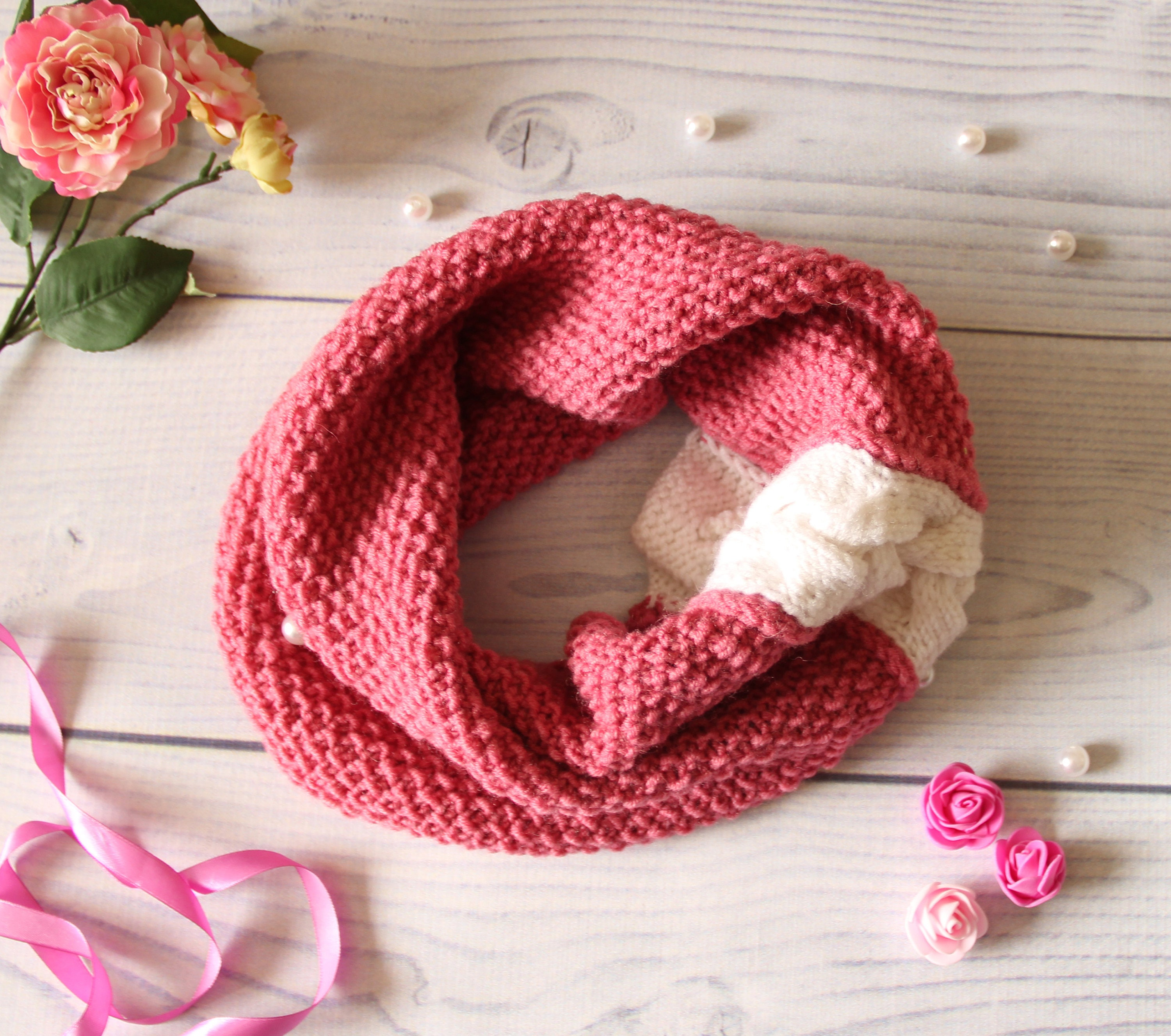 28 Infinity Scarf Knitting Patterns - The Funky Stitch