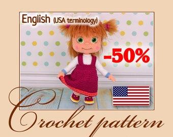 Masha - Amigurumi Crochet Pattern PDF file by Anna Sadovskaya