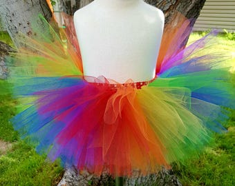 Rainbow tutu rainbow dash inspired tutu my little pony inspired unicorn tutu clown tutu fantasy tutu infant tutu toddler tutu photo prop