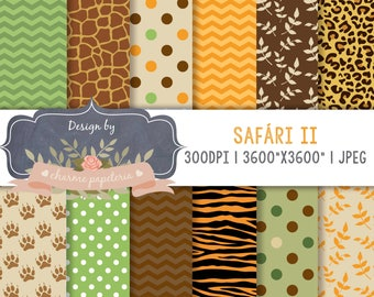 SALE Jungle digital paper, animal print, Jungle Animal Patterns, safari jungle animal print patterns