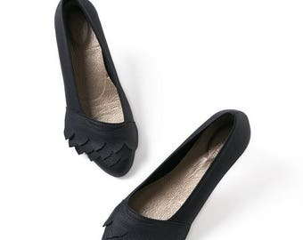 Black leather shoes, Leather shoes, Handmade shoes, Ballet flats, Women's shoes, Leather flats, Black flats, Pointy flats