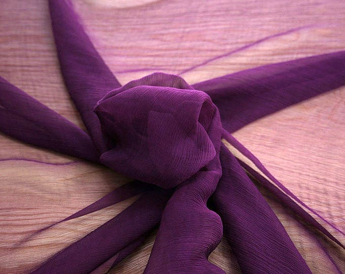 326220-Chiffon Natural silk 100%, width 127/130 cm, made in Italy, dry cleaning, weight 29 gr
