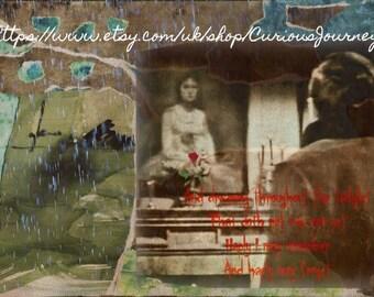 Barnabas Collins Remembers Josette du Pres- original collage print