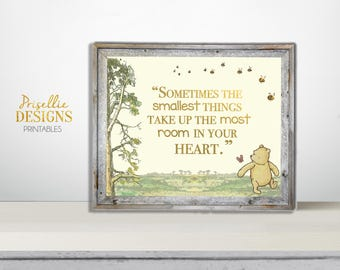 Classic Winnie the Pooh Nursery Quote Sign, Winnie the Pooh Printable Welcome Sign, Winnie the Pooh Personalized Printable Sign