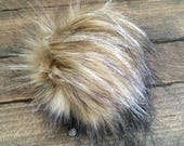 Faux Fur Poms in Lynx- Two sizes