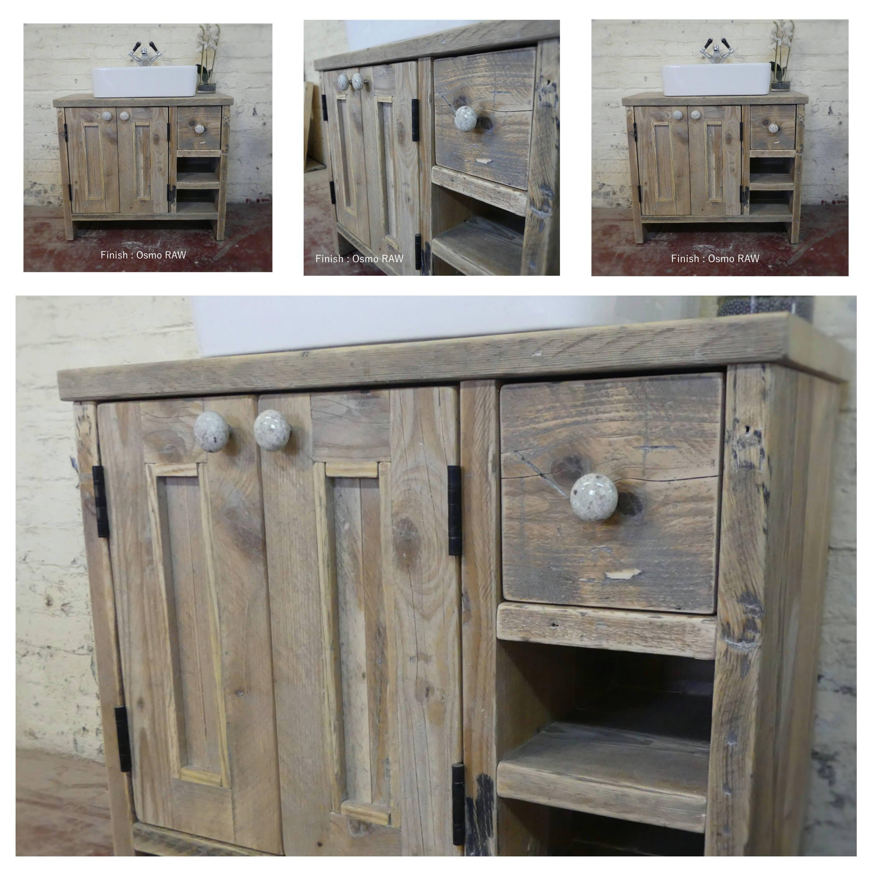 Wood Elevation Edinburgh : Edinburgh reclaimed wood washstand handmade bespoke