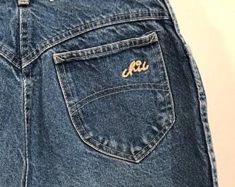 Vintage Chic Cut Off Jean Shorts