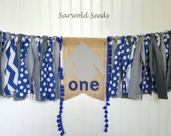 Donkey Fabric Banner, Highchair, Came Smash, Photo Shoot, Birthday