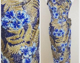 Deadstock Alfred Shaheen Sarong Hawaiian Dress