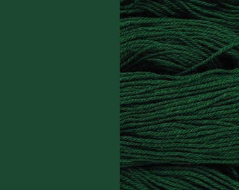 Wool Yarn, dark green, DK, 3-ply worsted knitting yarn 8/3 100g/130m