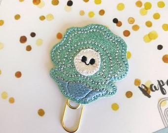 Happy little clam planner clip paper clip bookmark
