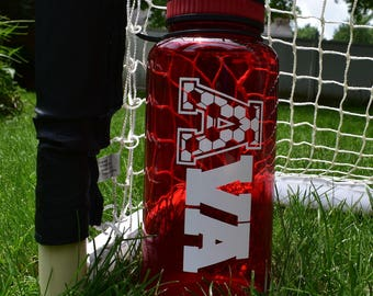 Personalized Soccer Water Bottle || Wide Mouth Water Bottle || 34oz Water Bottle || Personalized Water Bottle BPA Free