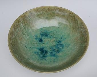 Large greenish serving bowl