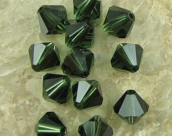 12 8mm Swarovski crystal bicone 5301 Turmaline beads 660