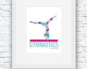 Gymnastics Digital Print,...
