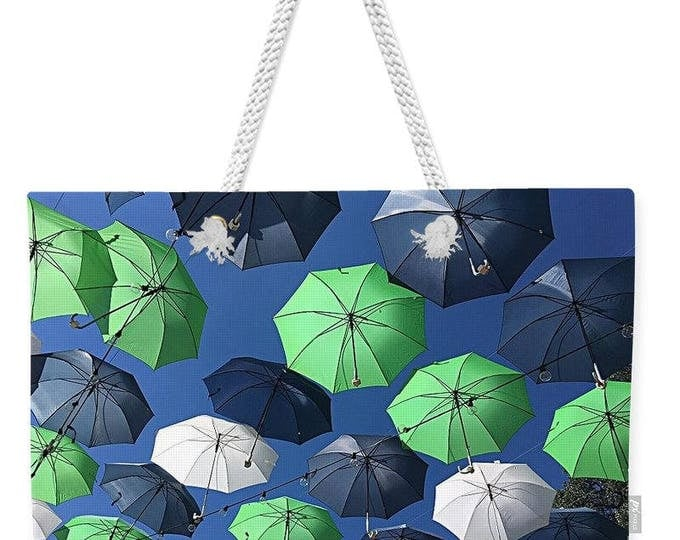 """Weekender Tote Bag """"Gone Umbrellas"""""""