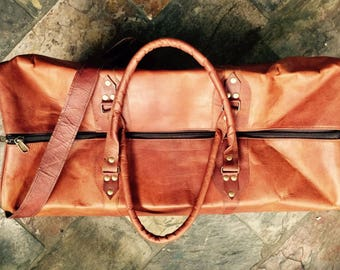 Leather Luggage, Overnight Bag, Leather Travel Bag, Luggage, Leather Gym Bag