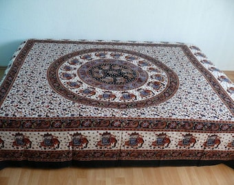 Oriental bedspread Quilted Drape cap India
