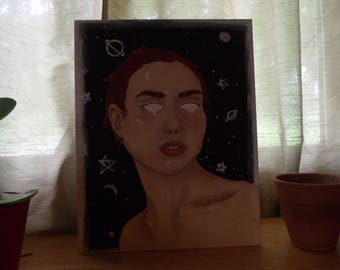 Original oil painting- portrait of girl