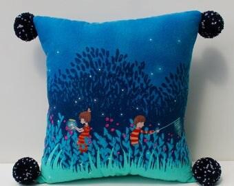 Fire fly Pillow