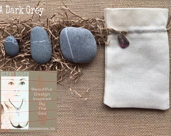 "Unique Gift Set ""Stone Stacking Balance"" 3 Beach Pebbles from the UK. Bath/Yoga/Meditation/Spa. All Natural. Handmade in the UK."