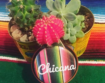 Chicana Sarape Buttons