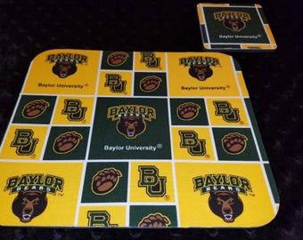 Baylor University Mouse Pad and Coaster Set