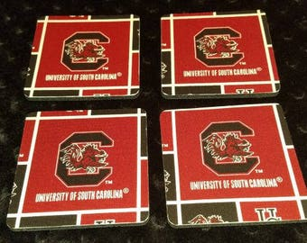 South Carolina Gamecocks 4 pack Coaster Set