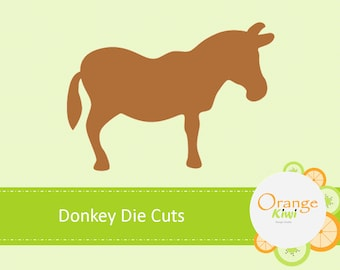 Donkey Die Cuts, Donkey Paper Cut Out, Farm Animals