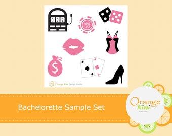 Bachelorette Sample Sticker Set, Vegas Bachelorette Stickers, Planner Sticker, Sample Stickers