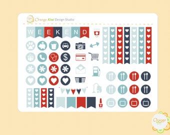 Winter Planner Stickers, Winter Birds Sampler Set, Sample Stickers, Erin Condren Life Planner, Happy Planner, Filofax