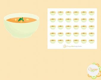 Soup Stickers, Food Stickers, Planner Stickers, Erin Condren Life Planner