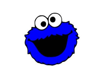 Cookie Monster SVG 3 LAYERS