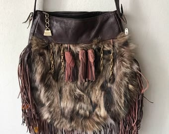 Hand made fur bag