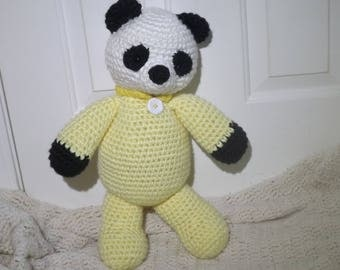 Ready to ship, Crochet Panda Bear, Plushie, Photography Prop, OOAK