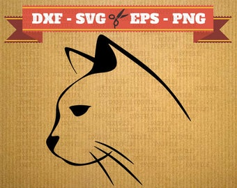Cat SVG file vector files for cricut, Cats cutting files, clipart animal, DXF files cat, silhouette cat, svg cat